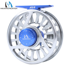 Maximumcatch Five Colors 5/6 WT Fly Fishing Reel Machined Aluminium Micro Adjusting Teflon Disc Drag Fly Reel Fishing Tackle