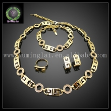Free shipping stylish fake gold jewelry set for women party  FHK617