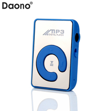 Big promotion Mirror Portable MP3 player Mini Clip USB MP3 Player sport mp3 music player walkman Support Micro SD TF Card(China)