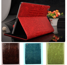 Top-Rated Luxury Crocodile PU Leather Magnetic Case For iPad 4 3 2 Stand Smart Cover Bag For iPad4 tablet case Free Shipping(China)