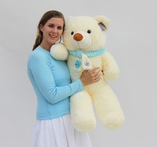 "Joyfay 39"" 100 cm White Giant Teddy Bear Huge Stuffed Plush Animal Big Soft Toy Best gift for Birthday Valentine Anniversary(China)"