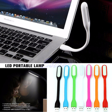 YAM Computer Keyboard Study Reading Notebook Laptop PC Flexible USB LED Light Lamp Red/White/Black/Blue/Green/Orange/Hot Pink(China)