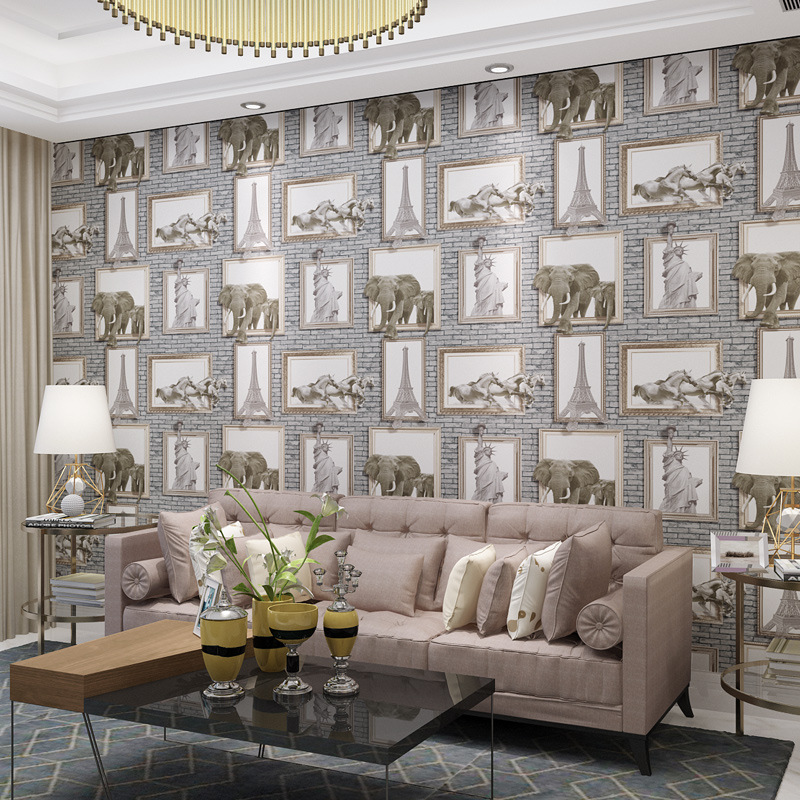Vintage European Tower Scenery 3D Wallpaper Wholesale PVC papel de pared Mural Wallpapers Roll Wall Paper for home decor JR048<br>