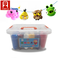 12colors 12*50g Air Drying Plastic clay Plasticine Super Light Clay Polymer Educational Soft Playdough Kids Toys