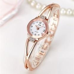 Женские наручные кварцевые часы из нержавеющей стали