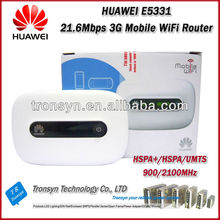 Wholesale Original Unlock HSPA+ 21.6Mbps HUAWEI E5331 3G Mobile WiFi Router Built-in HSPA+/HSPA/UMTS 2100/900MHz