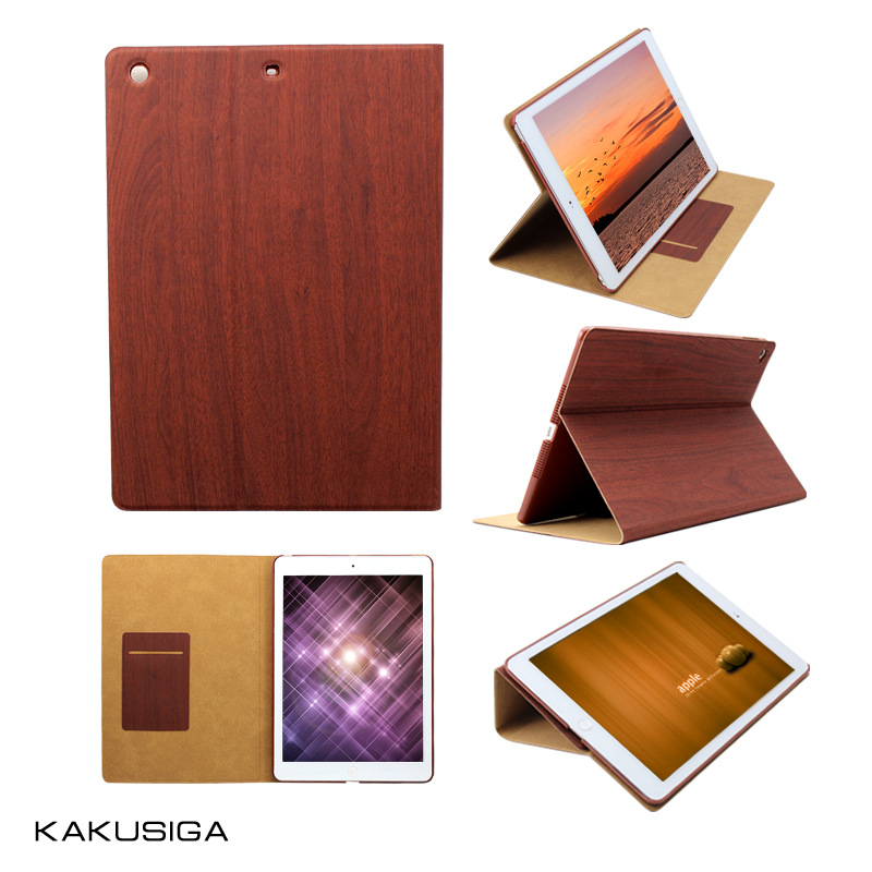Brand Kaku For Apple iPad Air ipad 5 Tablet Case Smart Cover Ultra Slim All-Inclusive Wooden Grain PU Leather Case Flip Cover<br><br>Aliexpress