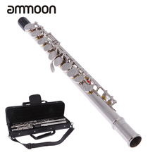 Western Concert Flute Silver Plated 16 Holes C Key Cupronickel Musical Instrument with Cleaning Cloth Stick Gloves Screwdriver(China)