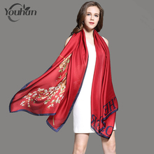 YOUHAN 2017 New Fashion Women Scarf Silk Autumn Winter Female Scraf Shawl Ladies Scarves Travel Beach Pashmina Shawl Foulard(China)