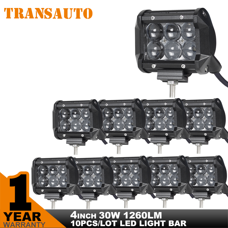 10PCS led fog light 30w Led Work Light Bar 30W Car LED Driving Offroad Light Spot Beam 4WD camper ATV UTV Truck 4x4 3000lm 6x5W<br><br>Aliexpress