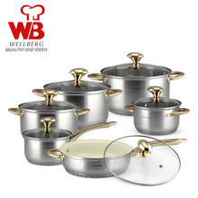 Cooking Tools 10PC Of 18/10 Stainless Steel Cookware Set Saupcepan Casserole Frypan Glass Cover Panela Cooking Pots Set of Pots