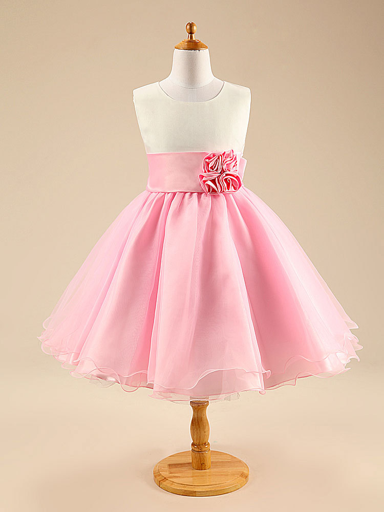 Fashion 3 to 7 years old chldren patchwork dress knee short kids tulle white and pink girl summer dresses for weddings and party<br><br>Aliexpress
