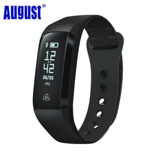 August SWB200 180mAh Smart Wristband Blood Pressure/Blood Oxygen/Heart Rate Monitor IP67 Sport Fitness Bracelet Tracker for iSO(China)