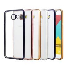 Plating Case For Samsung Galaxy A5 2016 A510F A510 Cover Silicone Ultra Thin TPU Skin Back Cover For Samsung A5 2016 Case Luxury