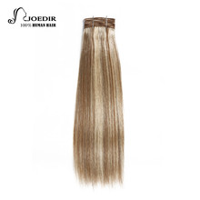 Joedir Hair Pre-Colored Brazilian Remy Human Hair Weave Yaki Straight #34 Color #P6-613 Piano Color Medium Brown Blonde Bundles(China)