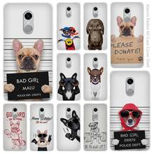 oh pugs Style bad dog Clear Cover Case Coque for Xiaomi Redmi Mi Note 3 3s 4 4A 4X 5 5S 5C 6 Pro