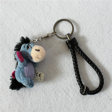 Free Shipping 1pcs 6cm Original winnie bear friend's Eeyore donkey plush pendants toys Keychains toys