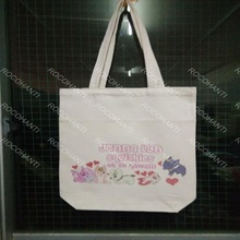 ROCOHANTI ONLY $15 Canvas Tote Bag Shopping Bag With Custom Logo Printing White Color 42X35X10CM