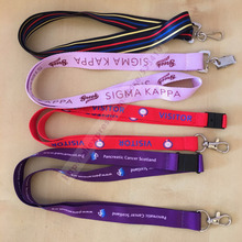 300pcs/lot Wholesale promotional cheap custom polyester lanyard with silk screen printing logo with free shipping by Fedex(China)