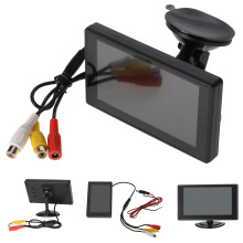 "4.3"" TFT LCD Car Monitor Parking Assist Car rear view camera with mirror monitor Backup Reverse Auto TV Car DVD Screen monitor(China)"