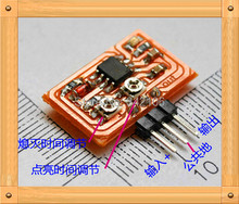 Free Shipping!!! Tunable square wave generator / oscillator circuit with a 555 pin / DIY with red indicator D08(China)