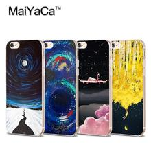 MaiYaCa Space Stars Fantasy Art Print Soft Transparent TPU Phone Case Accessories For iPhone 5 5s 6 6s 7 plus 6plus 6splus case(China)