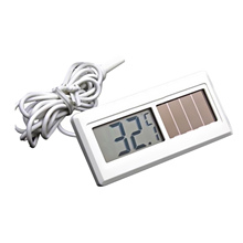 Solar Powered Temperature Controller LCD Digital Thermometer Refrigerator Fridge Thermometer