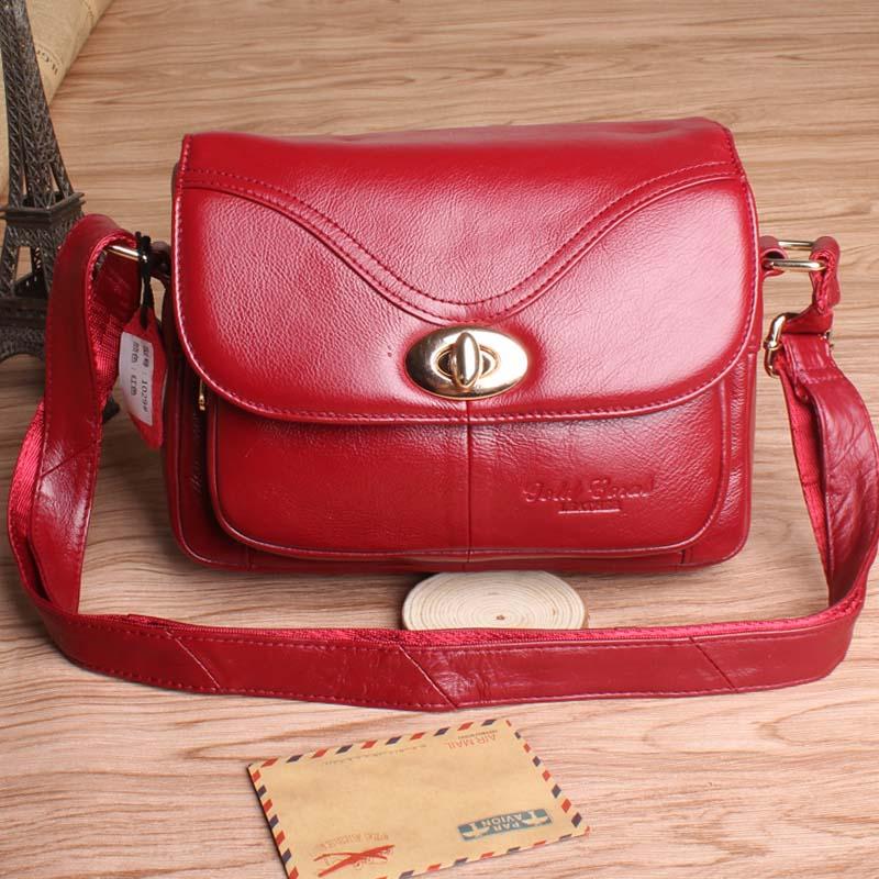 Hot sale gold coral genuine leather small satchel leisure elderly female  genuine leather shoulder bag women bag oblique #167<br>