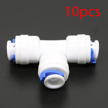 "10pcs 1/4"" Male Tee Union Quick Connector Fitting Water Reverse Osmosis Filter"
