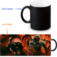 Disturbed Magic Mug Custom Photo Heat Color Changing Morph Mug 350ml/12oz Coffee Mug Beer Milk Mug Halloween Gift