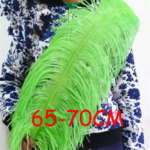 20pcs/lot Apple green ostrich feathers 26-28inch/65-70cm ostrich plumage Wedding centerpieces Ostrich Drabs Hat DIY sk302(China)