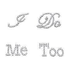 Лидер продаж 1 компл. курю меня тоже Свадебные Жених обуви Стикеры белый прозрачный горный хрусталь свадебный Декор Бесплатная доставка(China)
