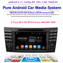 free shipping new product E-Class W211 CLS W219 G-Class w463 android 5.11 car dvd player with gps dvd usb mirror link wifi(China)