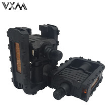 VXM MTB Bicycle Folding Pedals  Universal Plastic Non-slip Black Folded Bike Pedals For Mountain/Road Bike Cycling Bicycle Parts