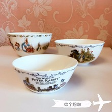 Peter Rabbit PeterRabbit Bone China exported to the UK Steamed Rice bowl bowl of soup bowl  cartoon salad bowl set