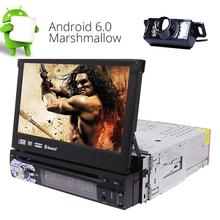 Rear Camera+Android 6.0 Car Stereo 1 Din GPS DVD Player WIFI Support 3G 4G/Radio RDS/SWC/USB/Subwoofer/Cam-In/AV OUT /DAB+/OBD2