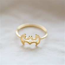 Popular batman ring standard graphics Gold-color rings for women wholesale and mixed color(China)