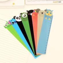 1 Piece New Straight Ruler Plastic Kawaii Tools Stationery Cartoon Cute Animals Drawing Gift Korean School Office Flexo
