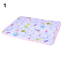 Baby Waterproof Urine Mat Cover Cartoon Cotton Reusable Washable Changing Pad 8G2C(China)