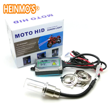 Motorcycle Headlamp H6 Hid Xenon Lamp 35w Hid Conversion Kit moto hid high and low beam Hi/Lo hid lights high low lights HID kit(China)