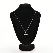 New 1PCS Unisex Necklace Jewelry Christ Cross Silver P Jesus Crucifix Sword Pendant Necklace