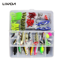 Artificial Fishing Lure Set Hard Soft Bait Minnow Popper Spoon Lure Fishing Tackle Box Mixed Color/Style/weight Optional