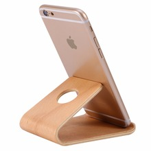 Universal Wooden Bamboo Mobile Phone Stand Holder Lightweight Slim Cellphone Stand for iPhone for Samsung for Xiaomi huawei 2018(China)