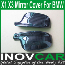 X1 X3 carbon fiber car mirror cover, x1 x3 custom mirror flag for Bmw X1 X3 mirror cover(China)