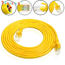 1-30M Yellow External Network Ethernet Cable CAT5e 100% Copper RJ45 Cabo 17July15(China)