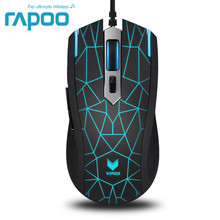 Rapoo V13 Game Mice 6 Buttons USB Wired LED Backlight Optical Gaming Mouse for Laptop Computer Dota2 LOL Bloody Fare deathadder(China)