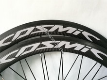 Toray 700c Rims 50mm Cos mic Por Carbon Exalmh Gray Decals 3K Twill Carbon Road Bike Wheels 23mm Width Powerway R36 Hub(China)