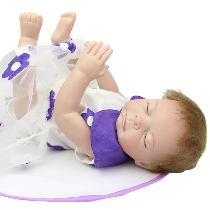 20 Inch Sleeping Reborn Babies Girl Full Silicone Vinyl 50 CM Newborn Baby Dolls Lifelike Waterproof Toy Kids Birthday Xmas Gift<br><br>Aliexpress