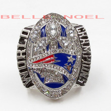 Drop Shipping New Arrival 2016 New England Patriots Super Bowl LI Championship Rings For Fans size 8 12 Tom Brady Champion Ring(China)