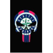Fashion Baseball Seattle Mariners skull Flag 3' x 5'